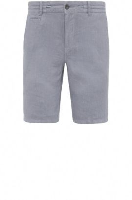 Regular fit shorts in linen: 'Siman-Shorts-D', Blue
