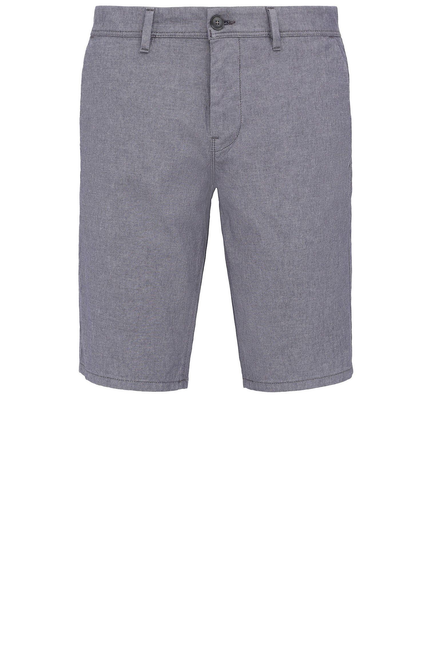 Pantaloncini corti slim fit in cotone elasticizzato: 'Slender-Shorts-W'