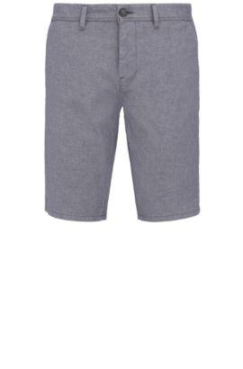 Pantaloncini corti slim fit in cotone elasticizzato: 'Slender-Shorts-W', Blu scuro