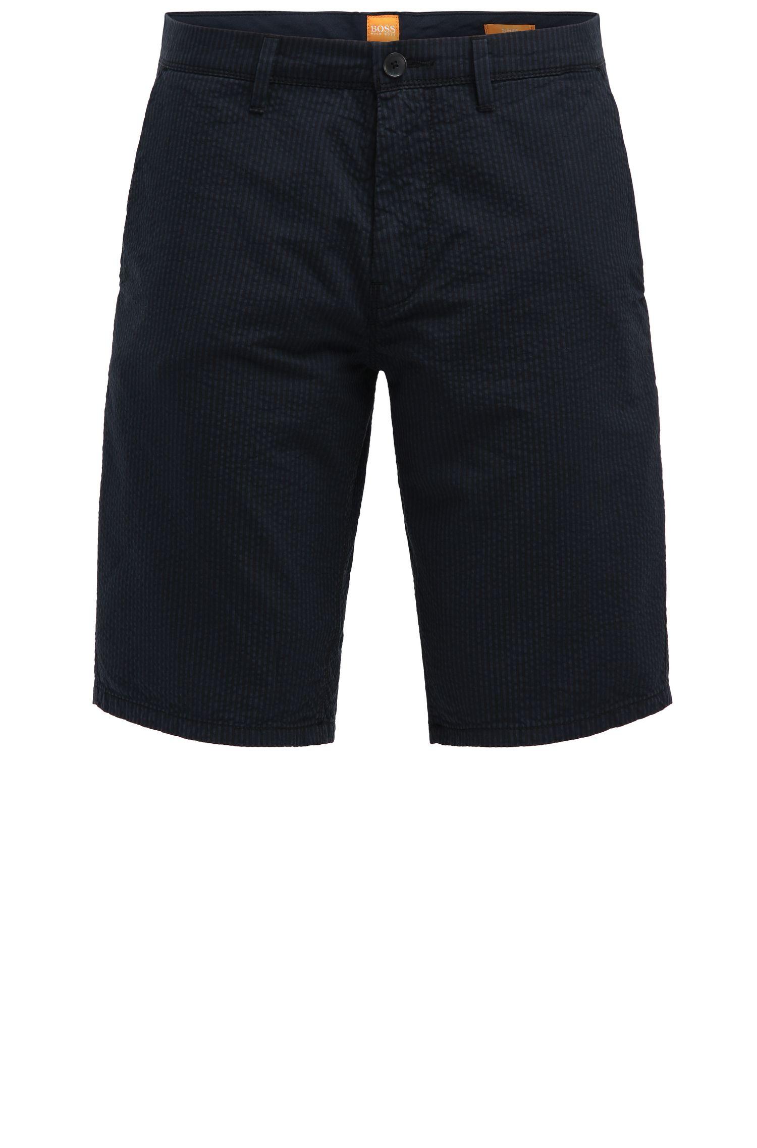 Shorts de algodón slim fit con estampado a rayas: 'Slender-Shorts-W'
