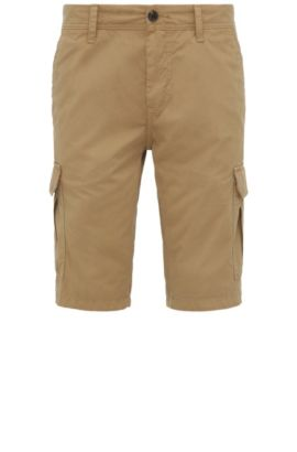 Regular-fit cargo shorts in cotton: 'Schwinn5-Shorts-D', Khaki