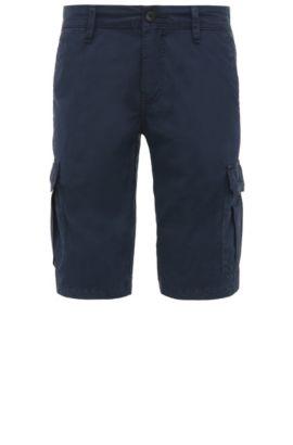 Short cargo Regular Fit en coton: «Schwinn5-Shorts-D», Bleu foncé