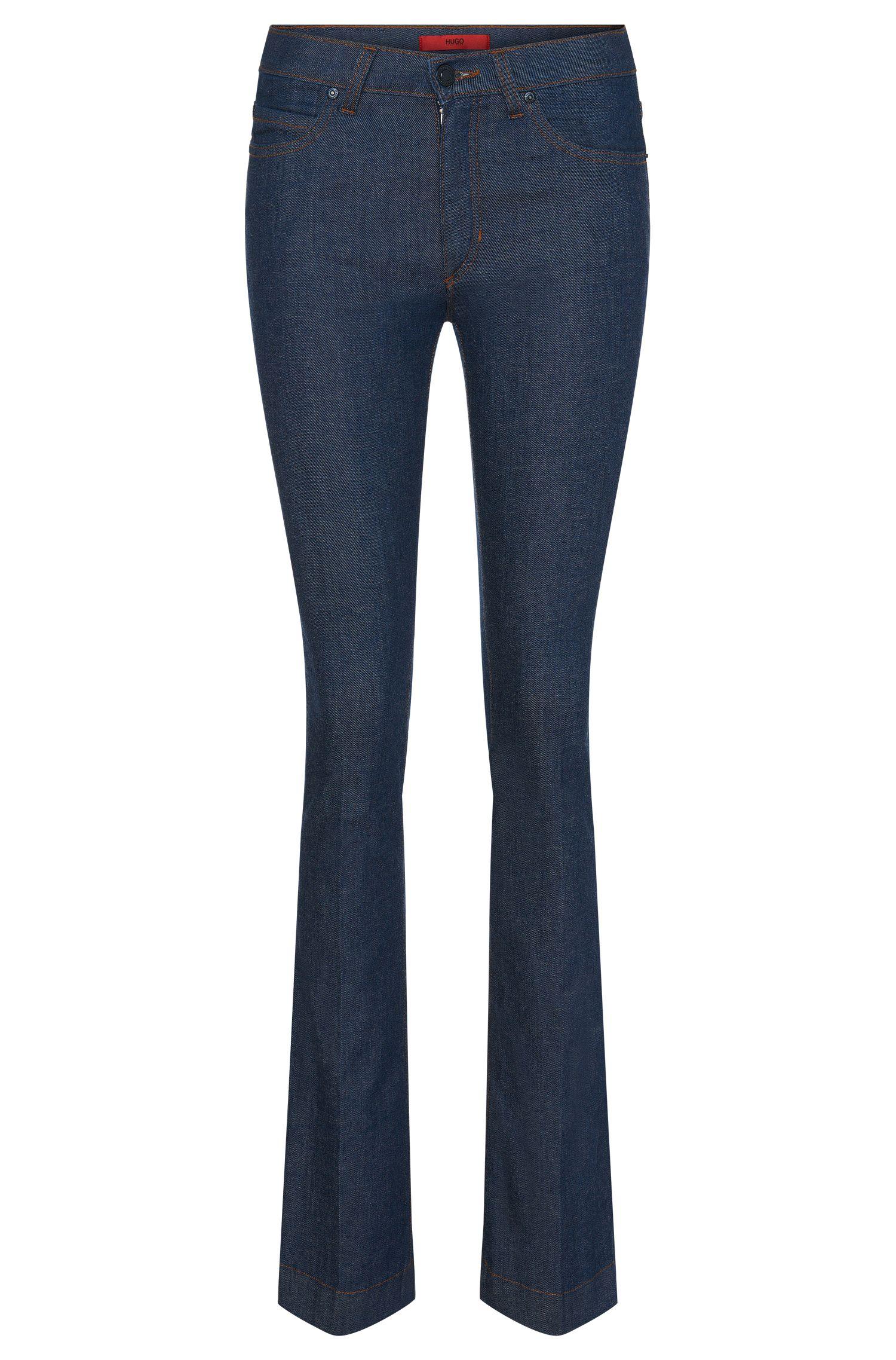 Skinny-Fit Jeans aus Baumwoll-Mix mit ausgestelltem Bein: 'Ginas'