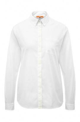 Relaxed-fit blouse in cotton: 'Egyp', White