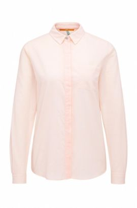 Relaxed-fit blouse in cotton: 'Egyp', light pink