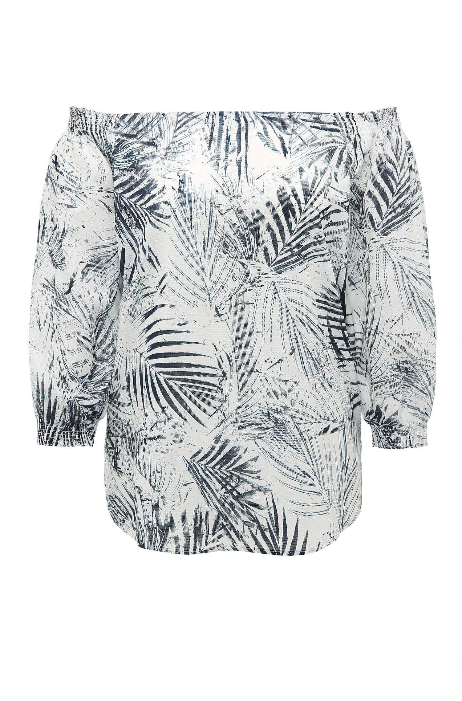 Blusa regular fit en algodón con estampado: 'Eroi'
