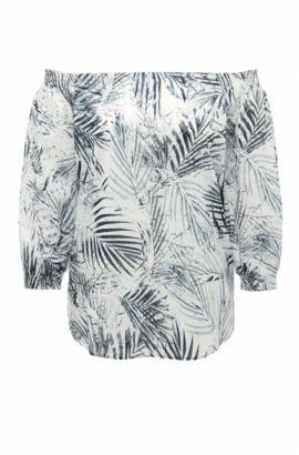 Blusa regular fit en algodón con estampado: 'Eroi', Fantasía