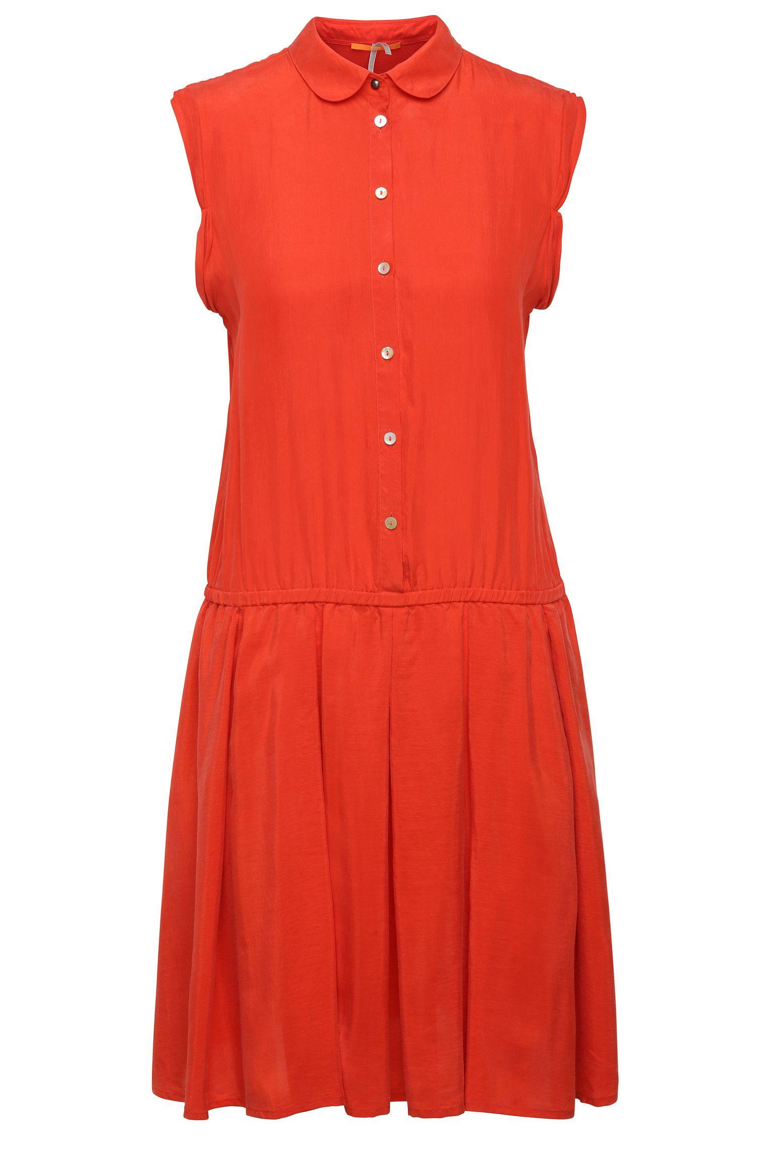 Regular-fit shirt dress in silk: 'Clace'