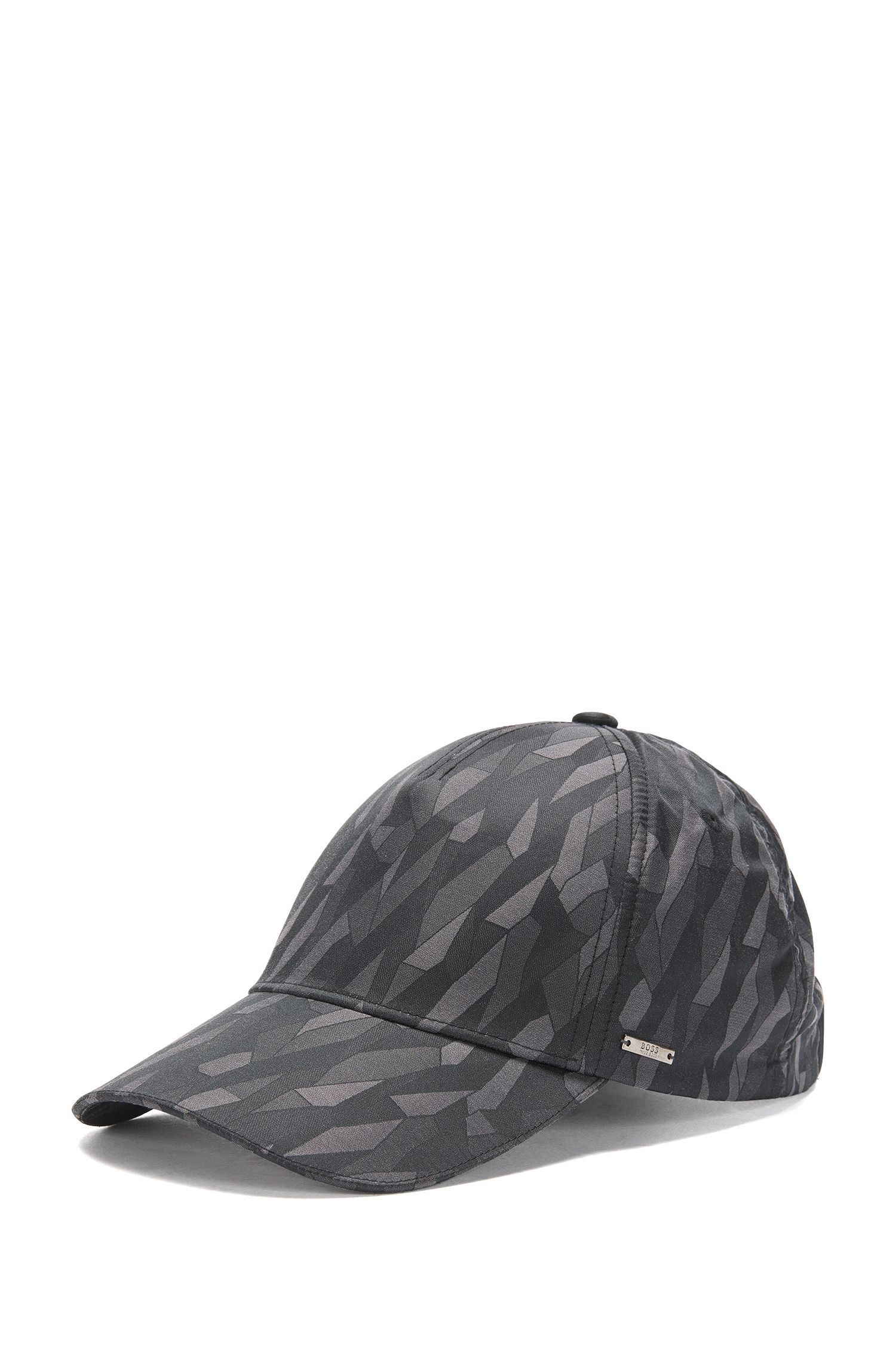 Patterned cap in cotton blend: 'Secamo'