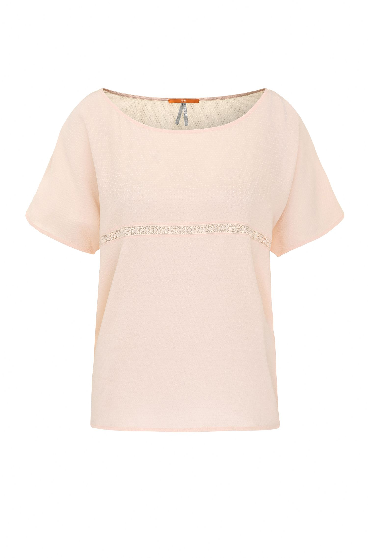 Blusa de seda con ganchillo: 'Etai_1'