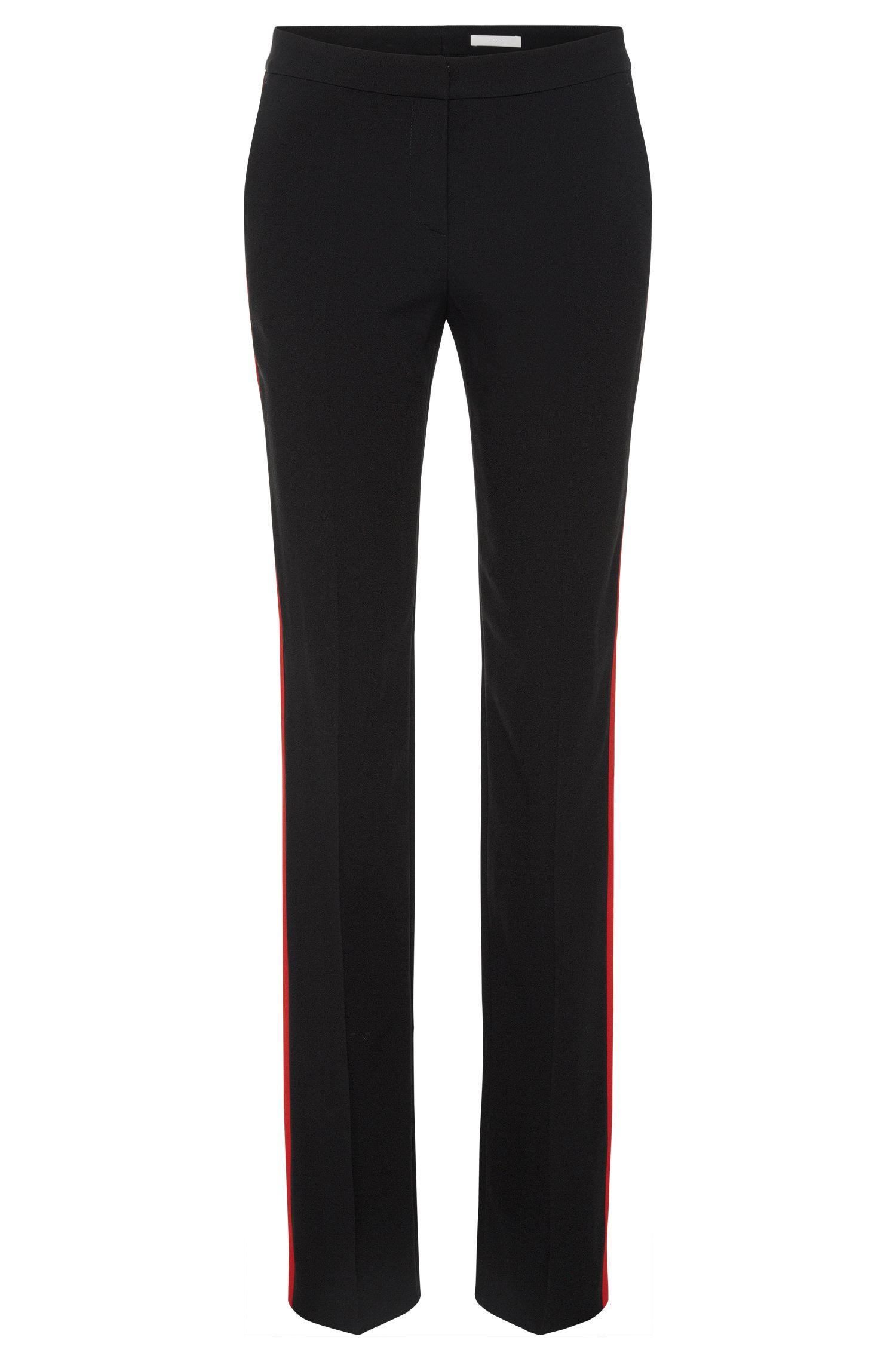 Pantalon Regular Fit en matières mélangées, pourvu d'empiècements contrastants: «Tatila»