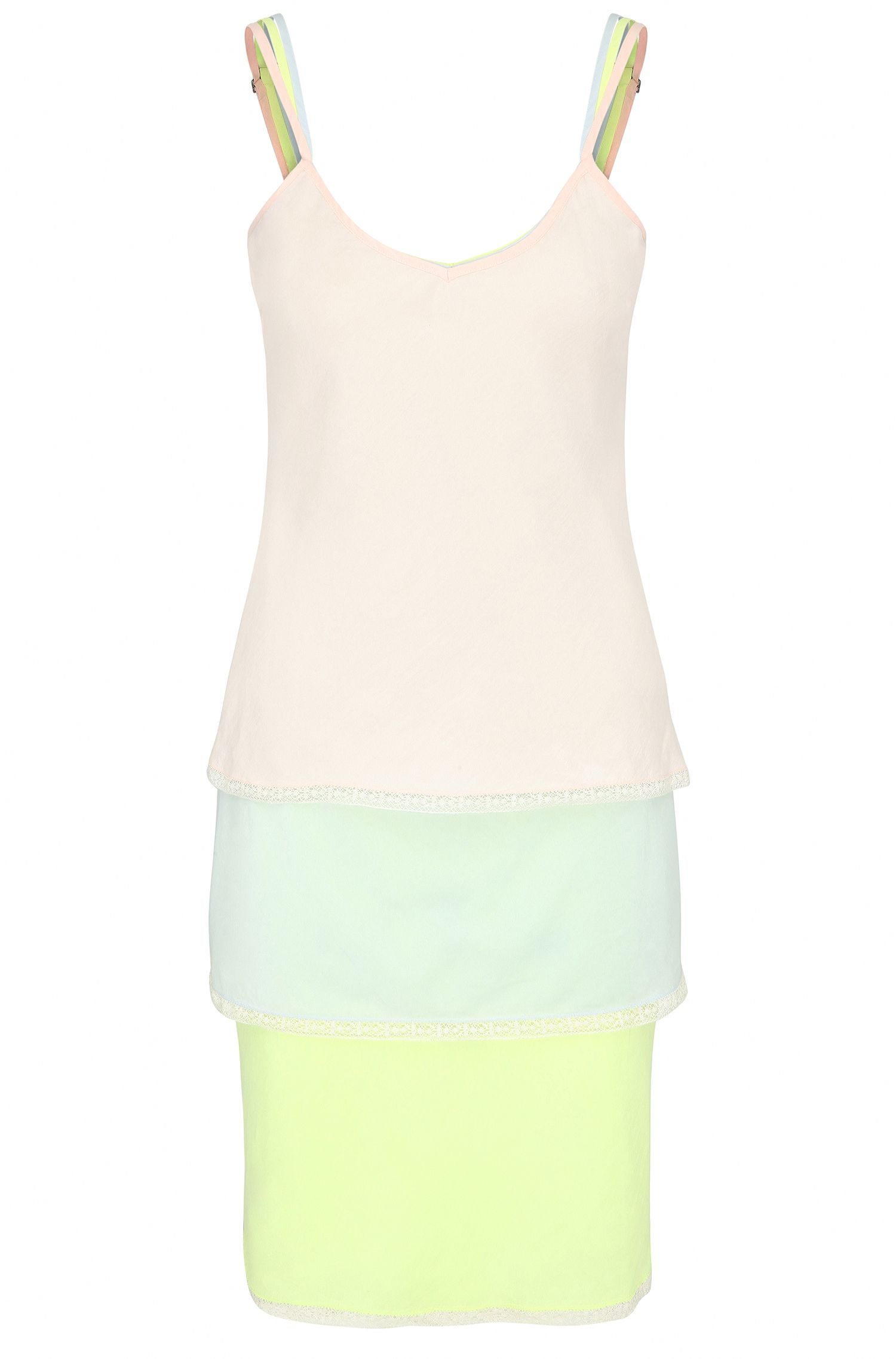 Relaxed-fit 3-in-1 strap dress in a cotton blend with silk: 'Citour'