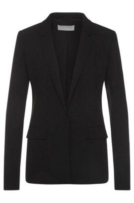 Getailleerde blazer met decoratieve splitten: 'Jikalea', Zwart