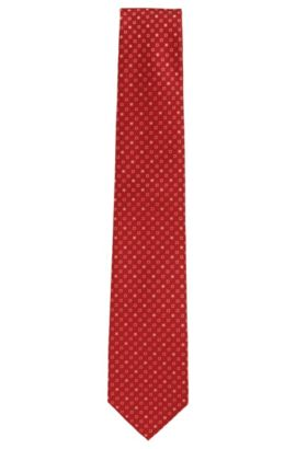 Patterned silk tie: 'Tie 7.5 cm', Red