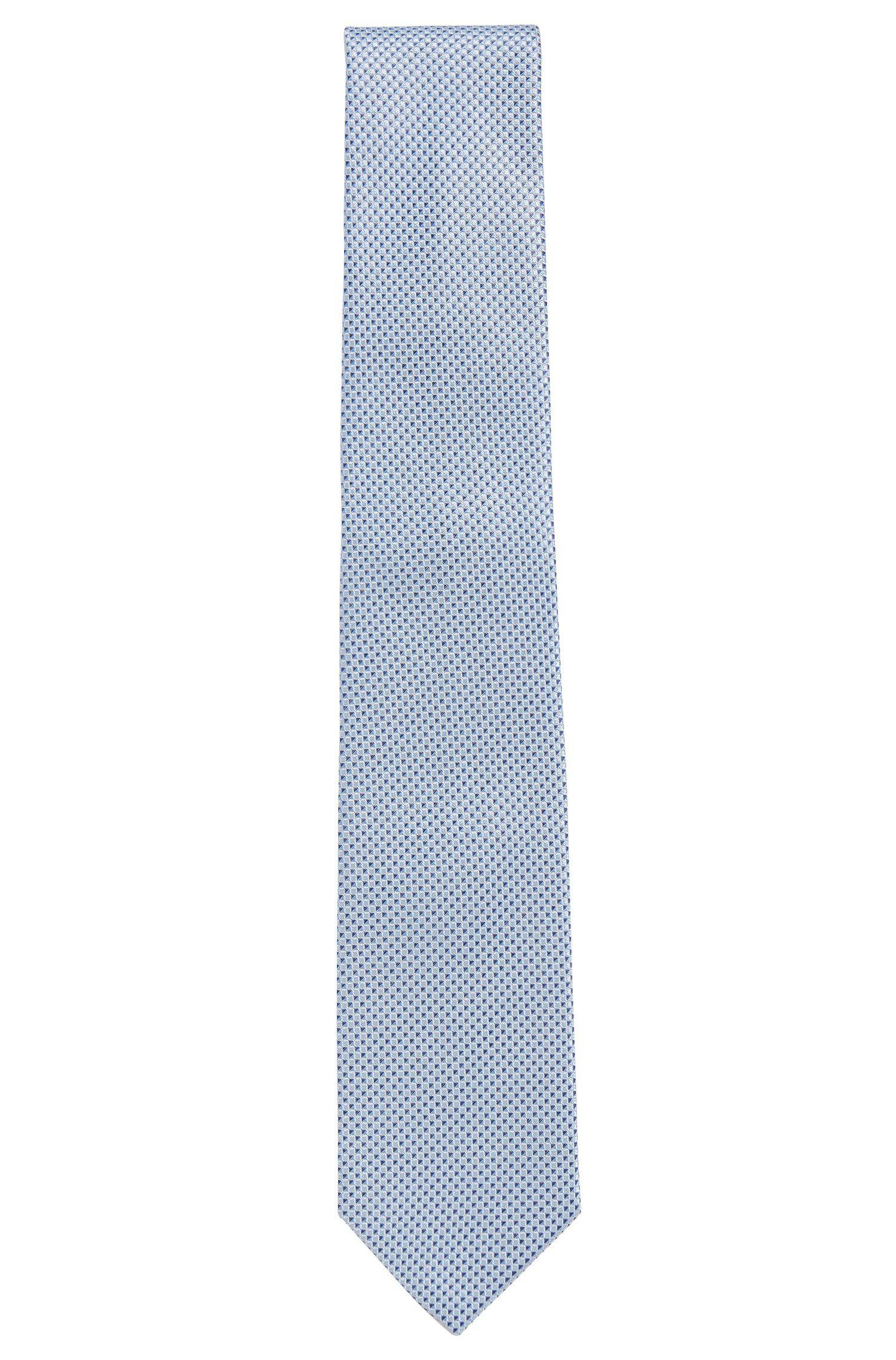 Fine cravatta in seta a disegni: 'Tie 7,5cm'