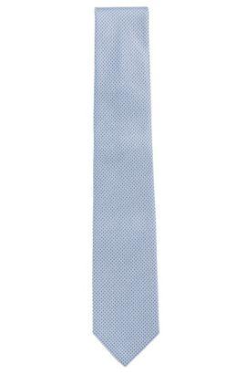 Finely patterned silk tie: 'Tie 7.5cm', Blue