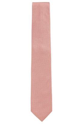 Corbata con fino estampado en seda: 'Tie 7,5cm', Rojo claro