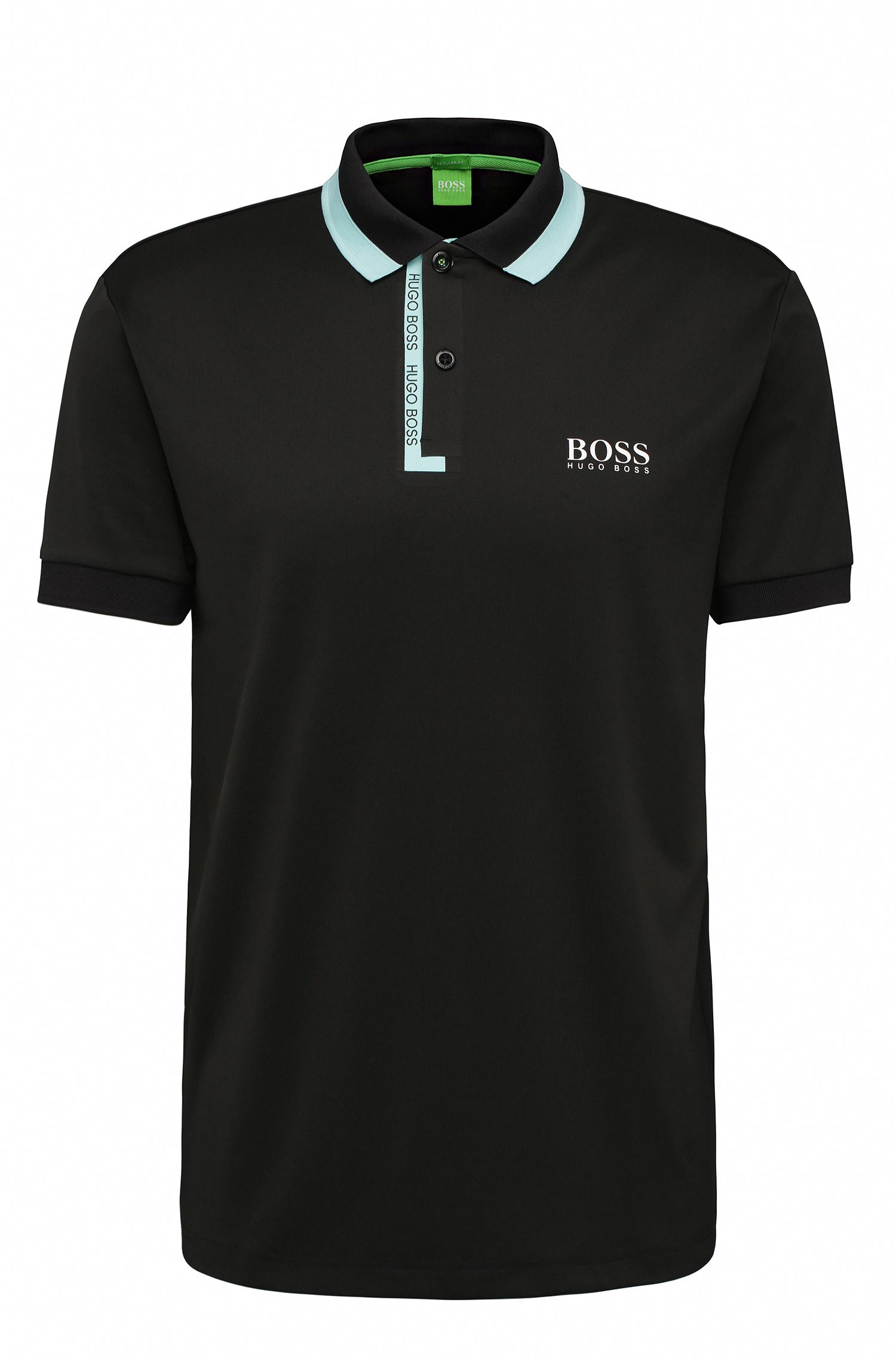 Regular-Fit Poloshirt aus elastischem Material-Mix: ´Paddy Pro 2`
