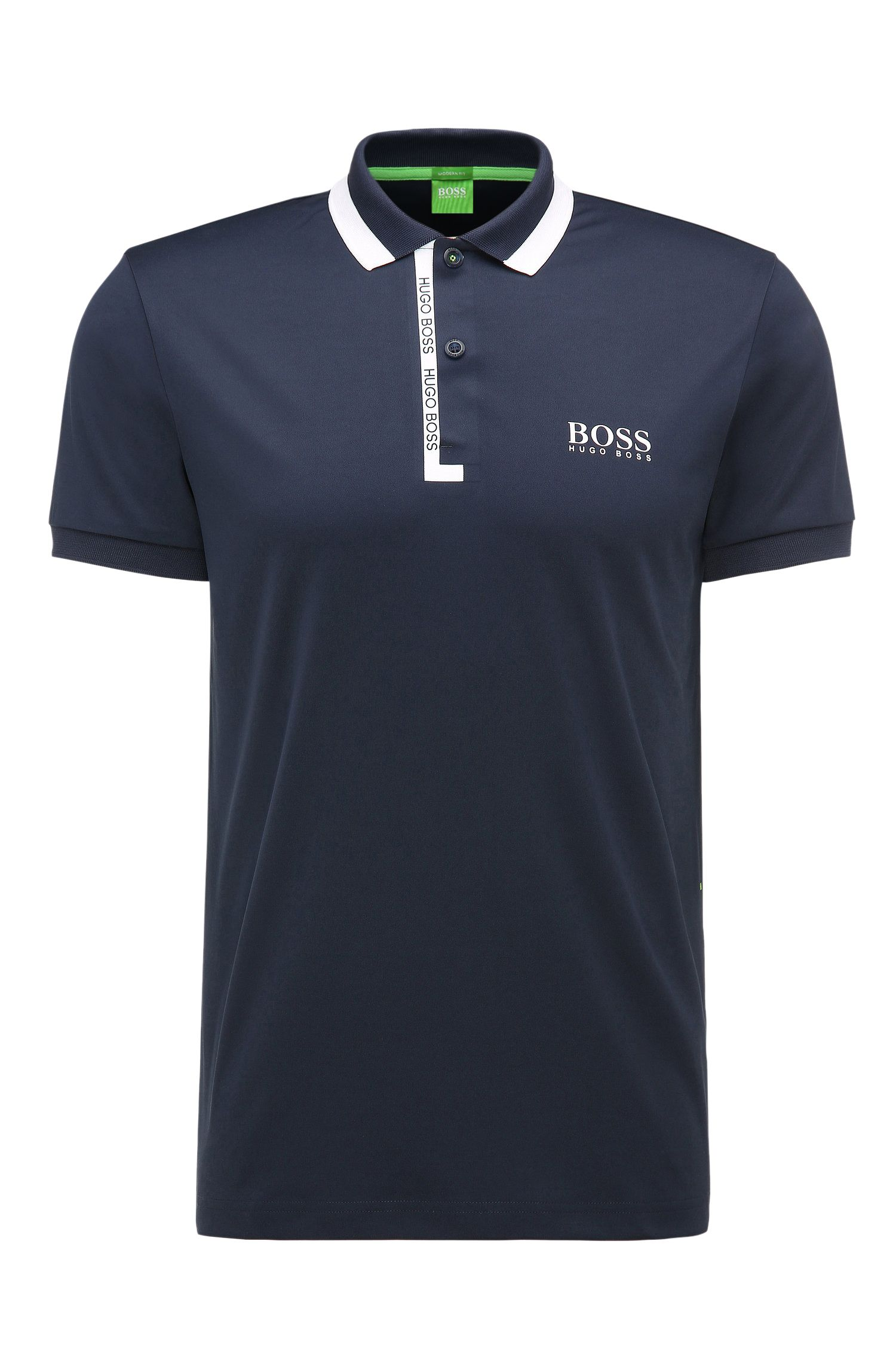 Regular-Fit Poloshirt aus elastischem Material-Mix: ´Paddy Pro 2`