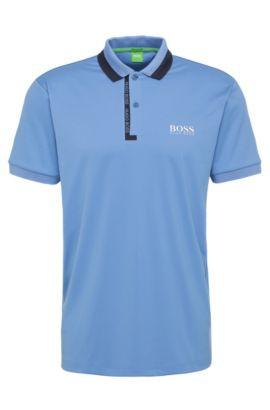 Polo Regular Fit en mélange de matières extensible: «Paddy Pro2», Bleu