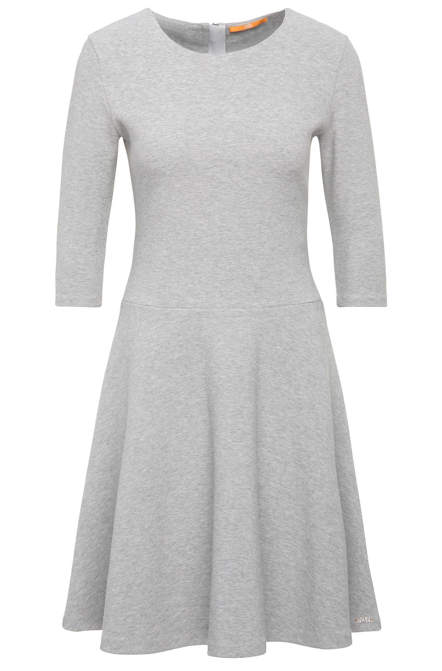 Vestido en mezcla de algodón con textura: 'Dipleati'