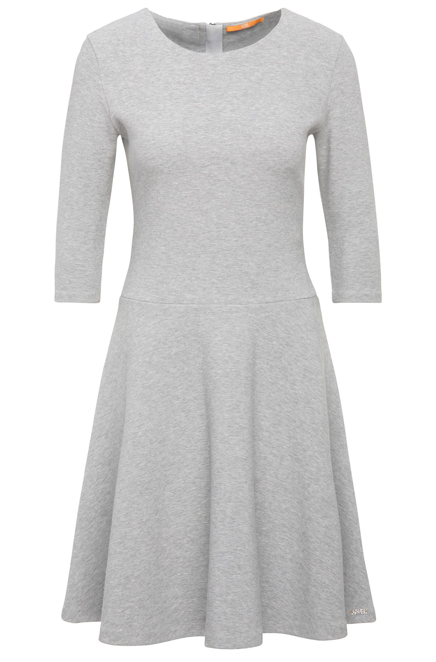 Dress in textured cotton blend: 'Dipleati'