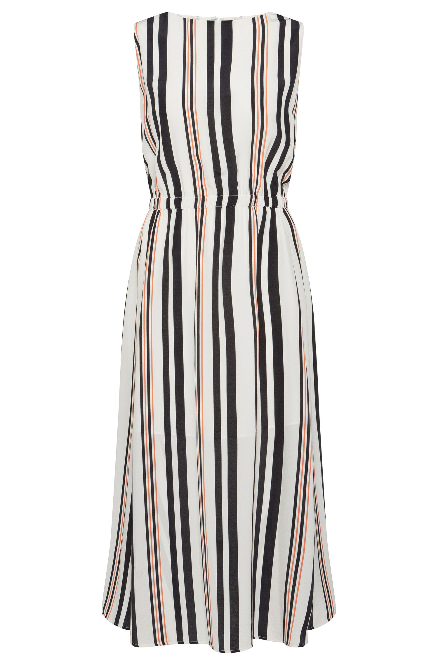 Striped dress in silk: 'Hemsy'