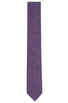 Corbata estampada en seda: 'Tie 6cm', Azul