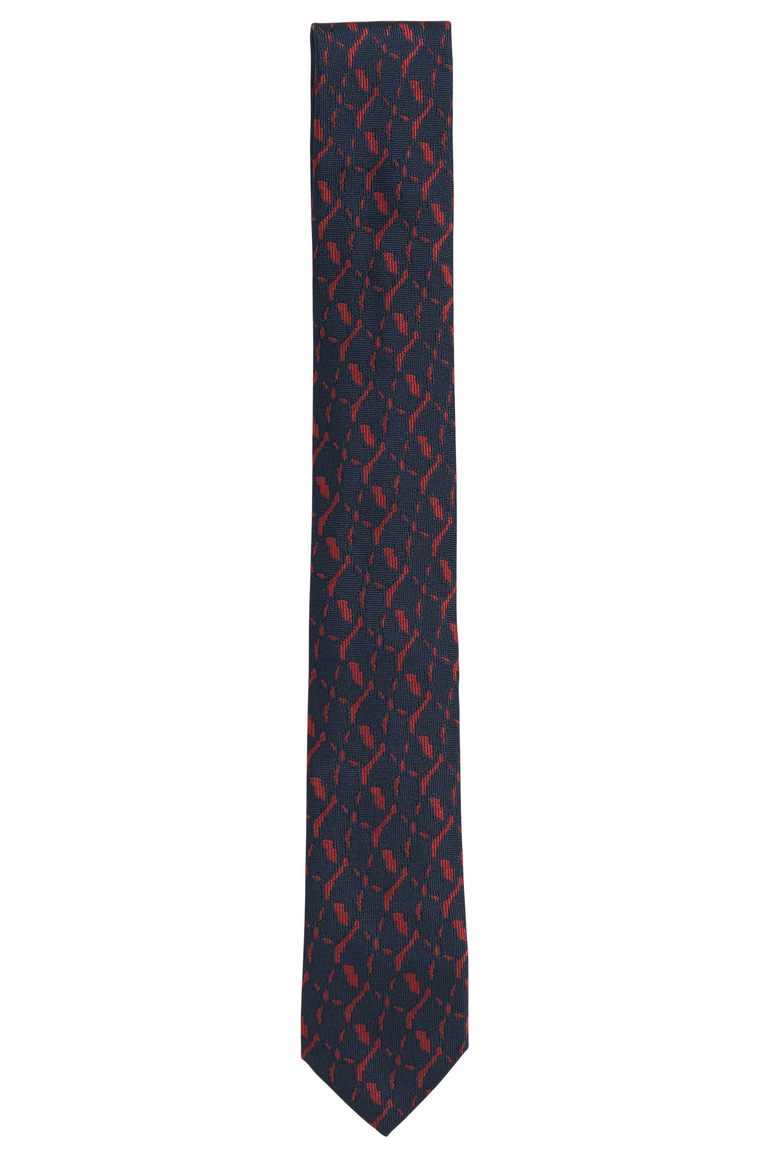Stropdas van zijde met dessin: 'Tie 6 cm'