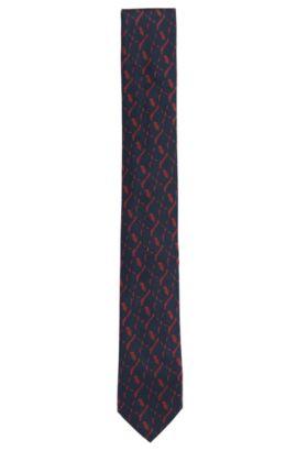 Stropdas van zijde met dessin: 'Tie 6 cm', Rood