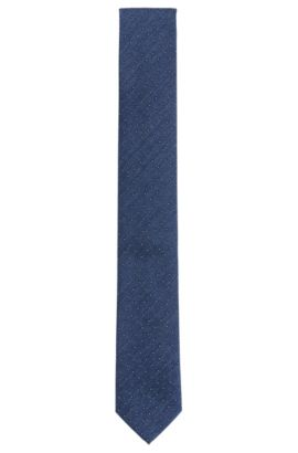Patterned silk tie: 'Tie 6 cm', Blue
