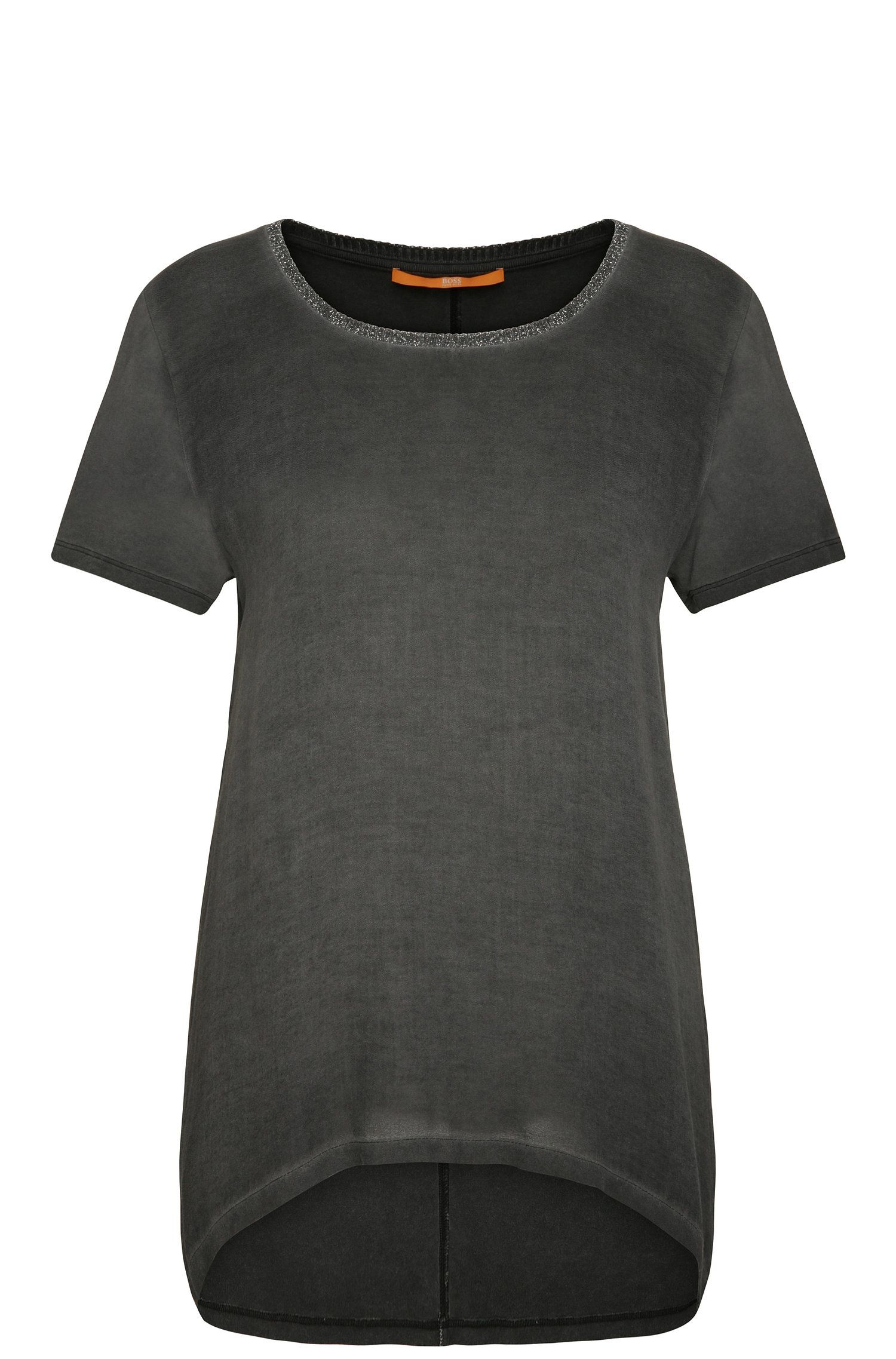 T-shirt Relaxed Fit en viscose avec détail brillant : « Tahiri »