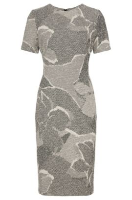 Patterned sheath dress in cotton blend: 'Haraly', Patterned