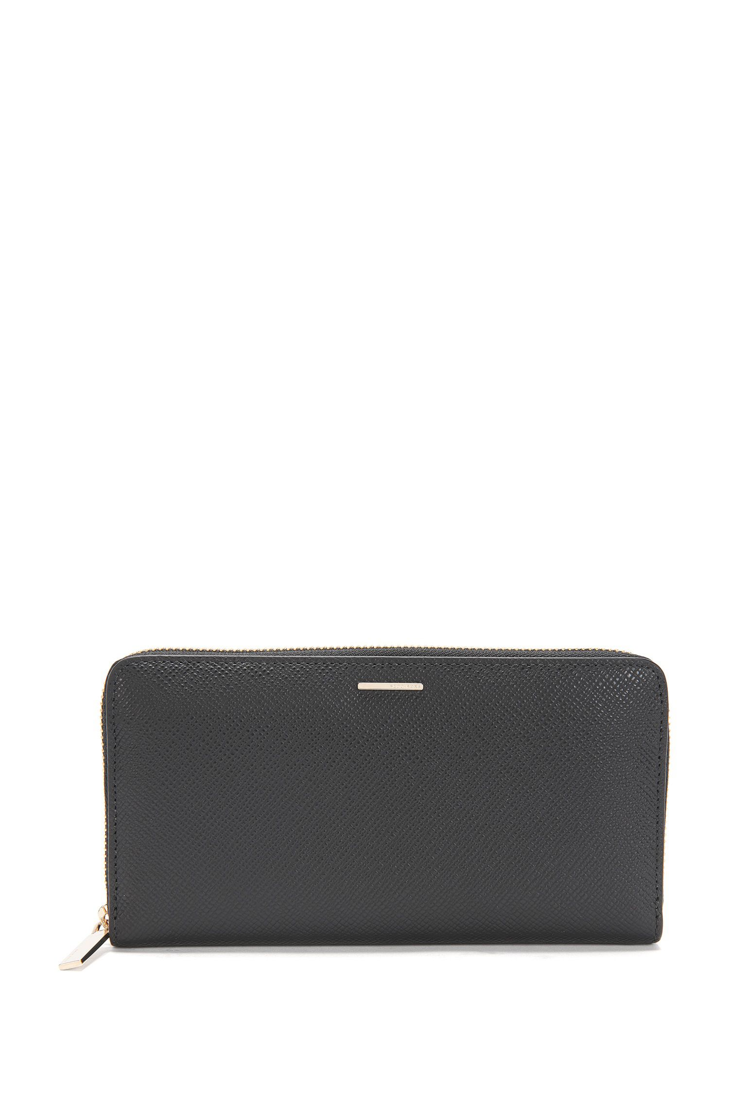 Wallet in leather with Saffiano embossing: 'Staple Ziparound FPB'