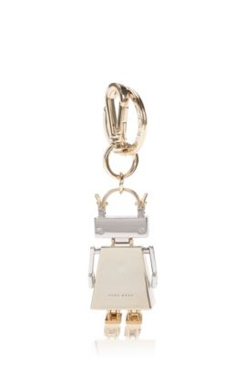 BOSSbot key ring in coated zinc: 'BOSS Bots', Gold
