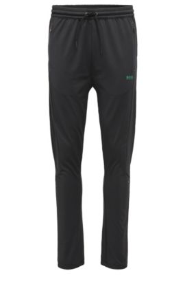 Regular-fit joggers in stretchy material blend: 'Horatech', Black