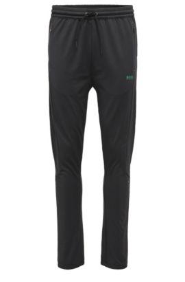 Regular-Fit Jogginghose aus elastischem Material-Mix: ´Horatech`, Schwarz