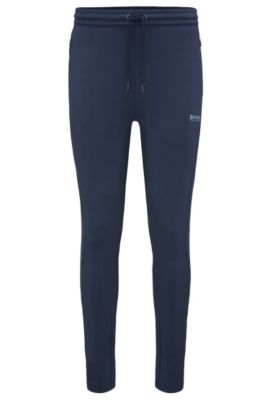 Regular-fit joggers in stretchy material blend: 'Horatech', Dark Blue