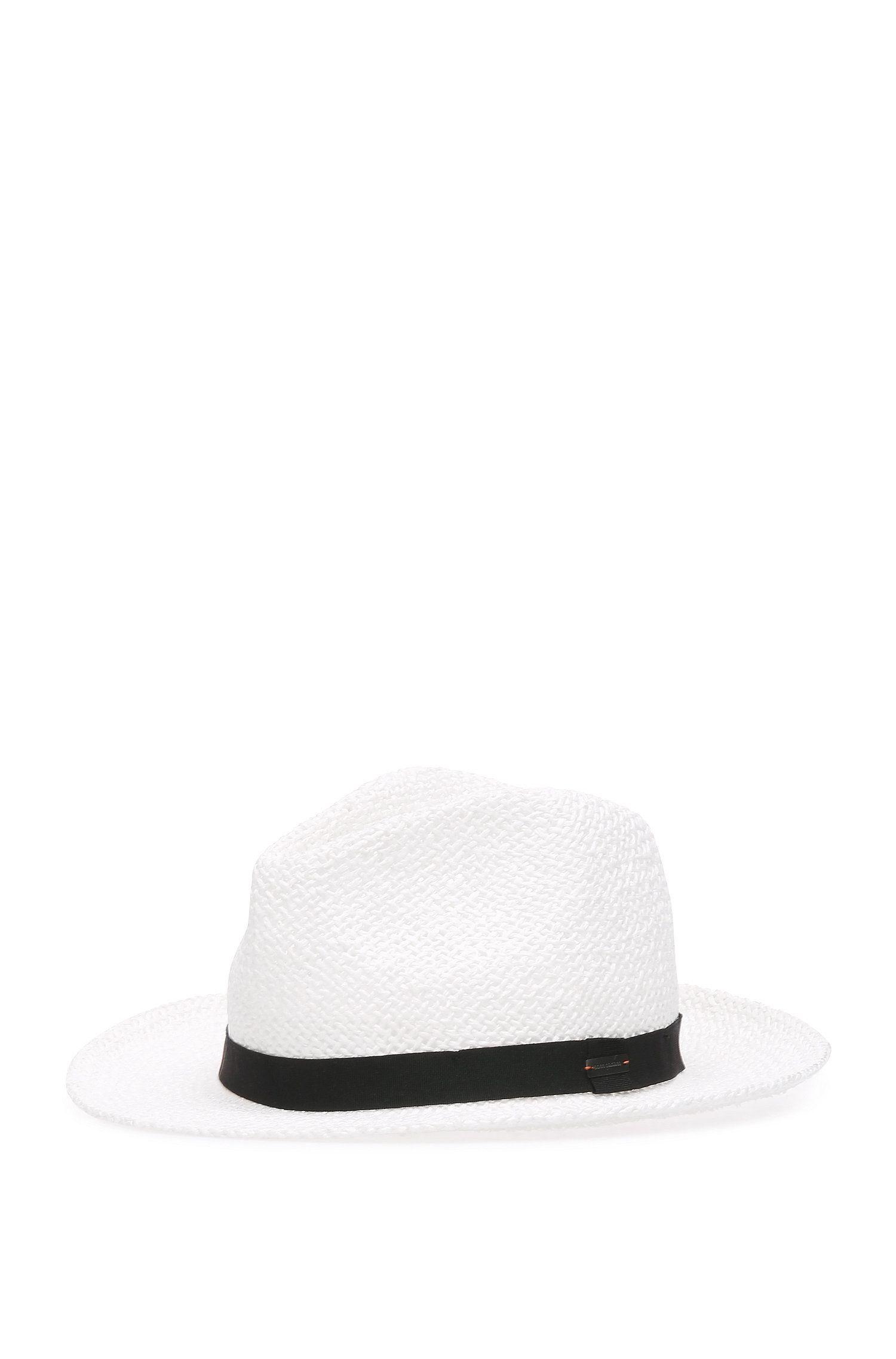 Sombrero Trilby en hilo de papel entrelazado: 'Finn-1'