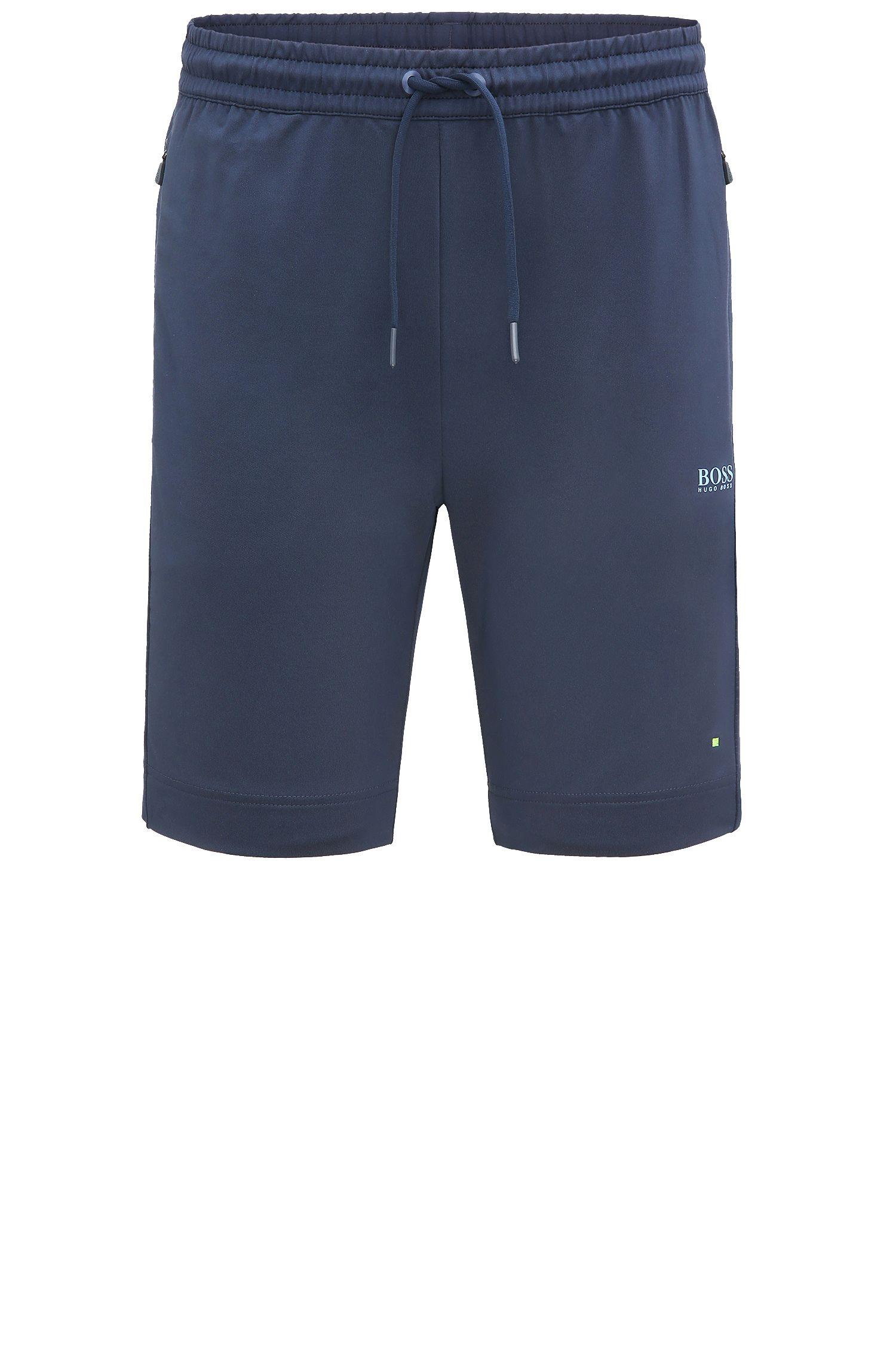 Shorts regular fit en mezcla de materiales elásticos: 'Hortech'