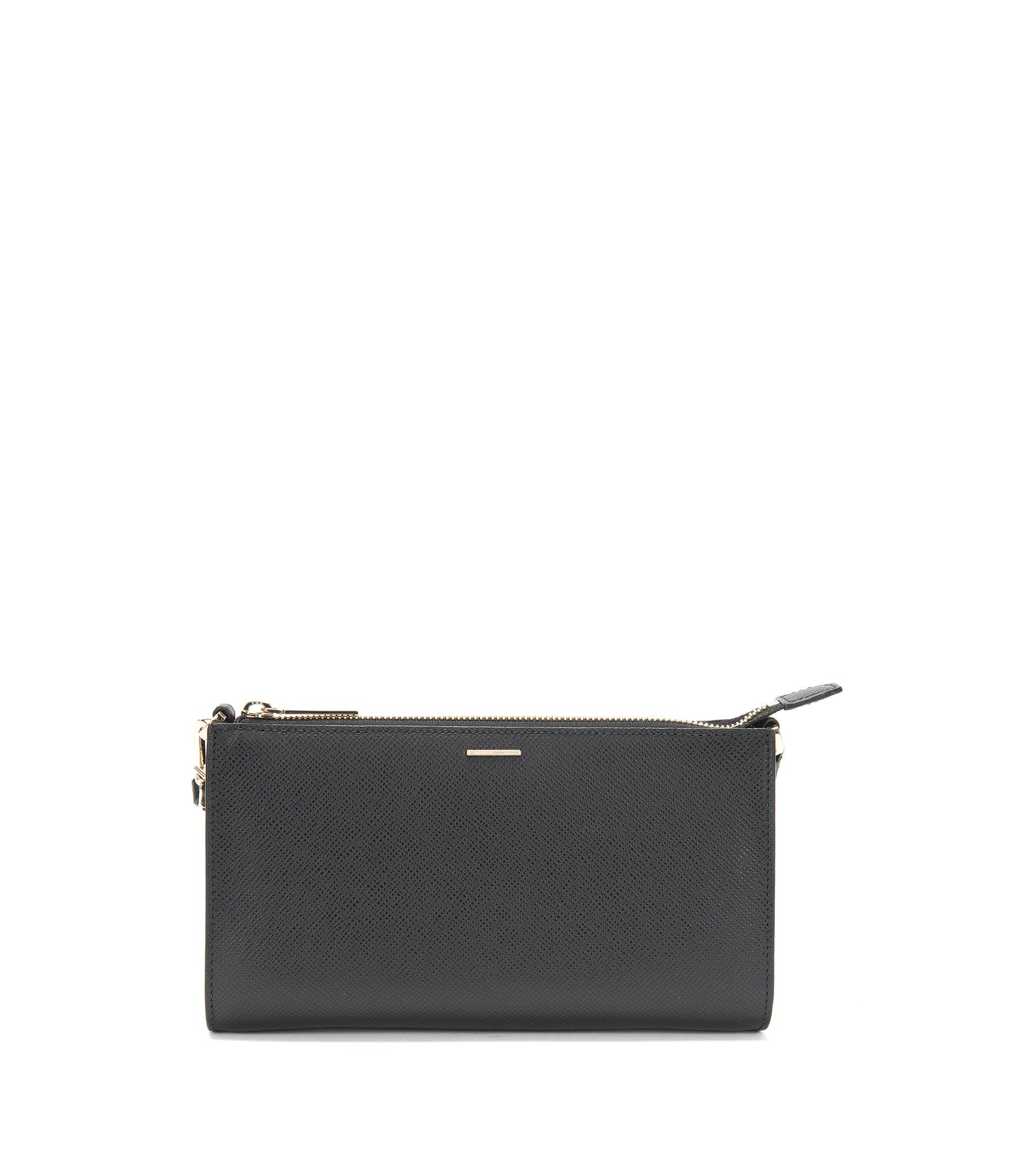 Luxury Staple Kosmetiktasche aus Leder, Schwarz