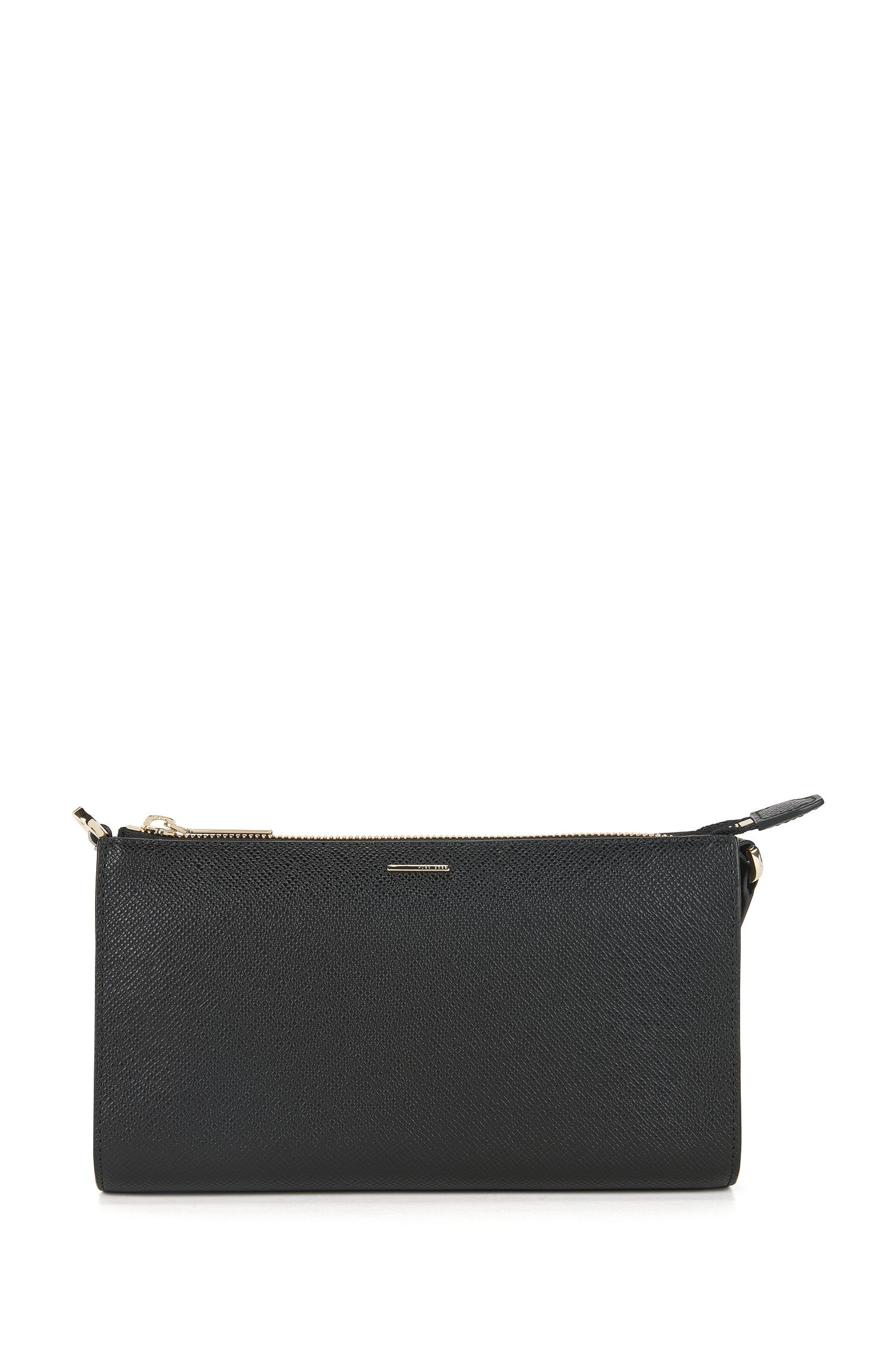 Clutch van leer uit de Luxury Staple-collectie van BOSS