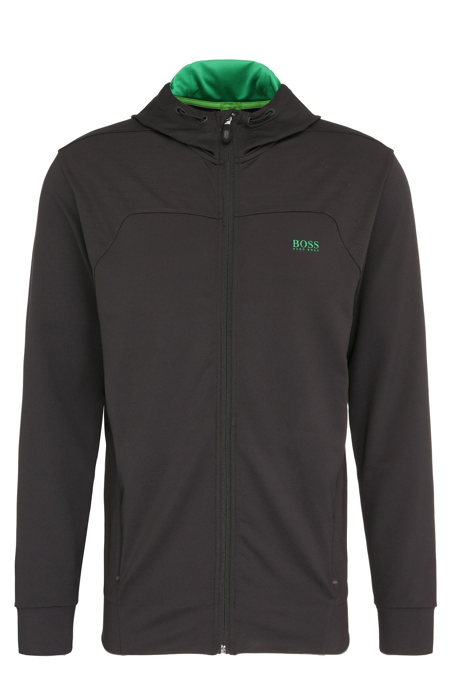Regular-fit casual jacket in stretchy material blend: 'Saggytech'