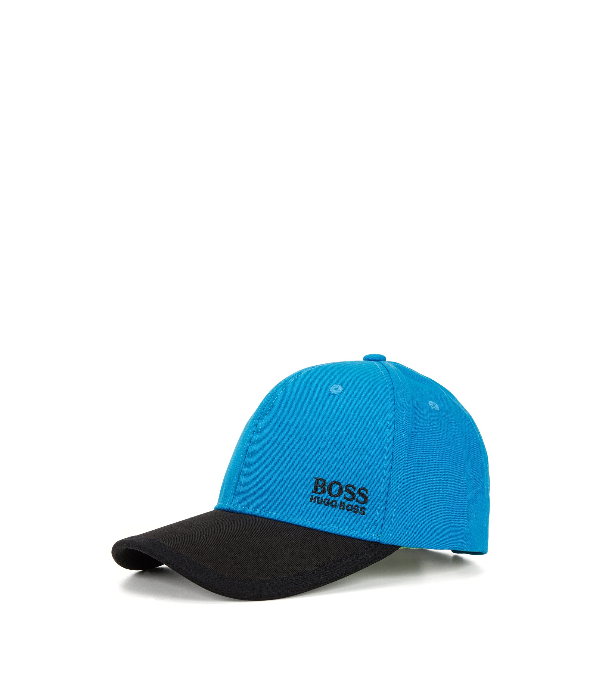 Baseball Cap aus Baumwolle im Colour-Block-Design, Blau
