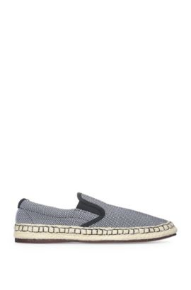 Slip-on textile trainers with an espadrille finish: 'Anthem_Slon_ms', Open Blue