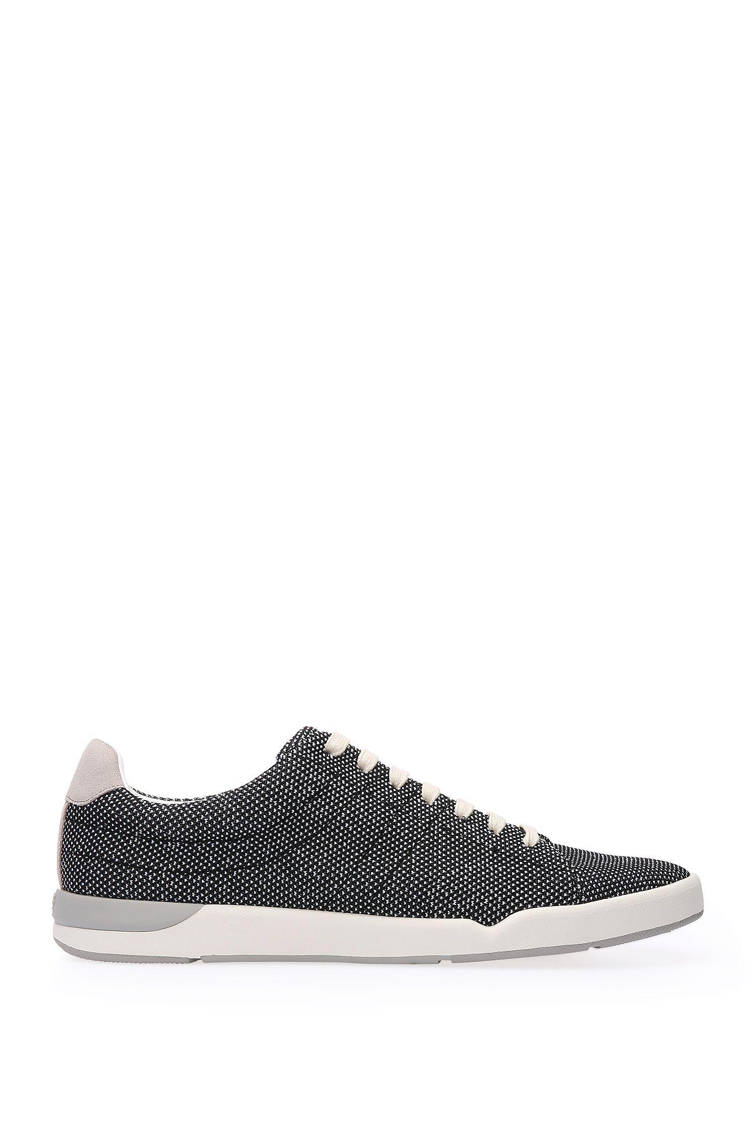 Sneakers aus strukturiertem Textil mit Lederbesätzen: ´Stillnes_Tenn_txms`