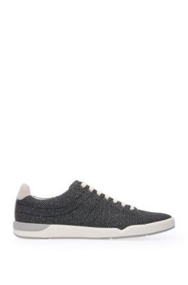 Sneakers aus strukturiertem Textil mit Lederbesätzen: ´Stillnes_Tenn_txms`, Dunkelblau