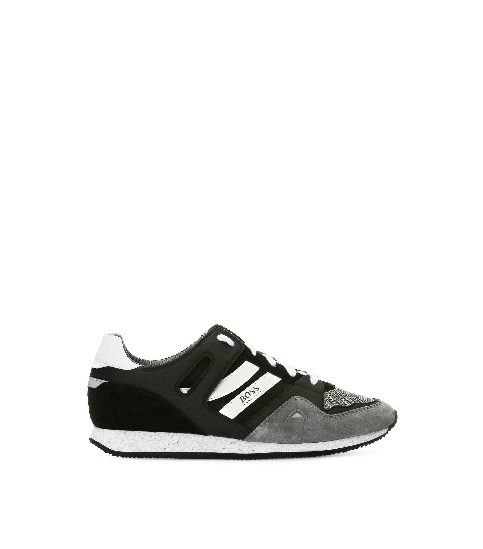 Sneakers aus Material-Mix mit EVA-Sohle, Grau