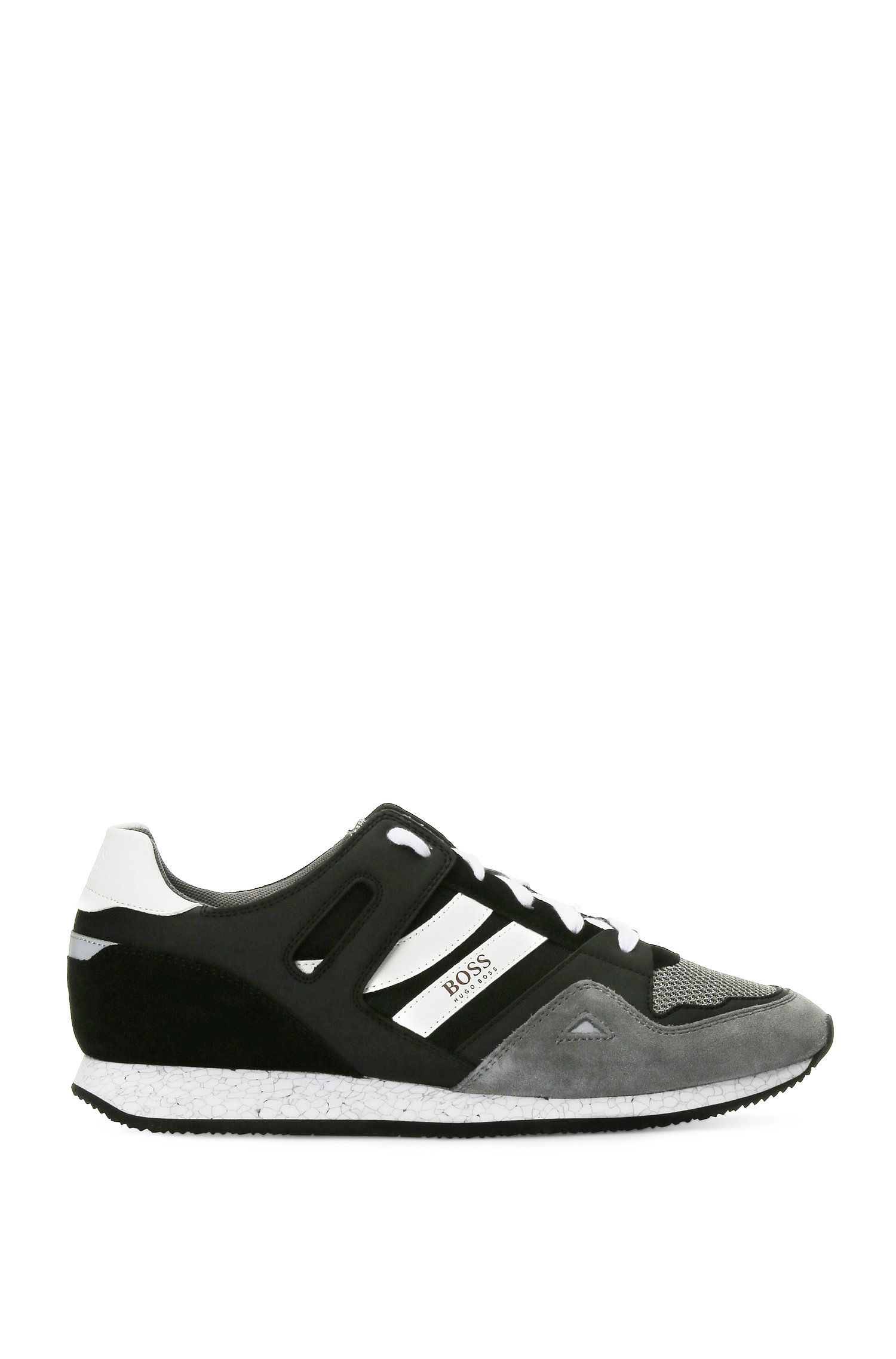 Trainers in a material mix of leather and textile: 'Adrenal_Runn_mx'