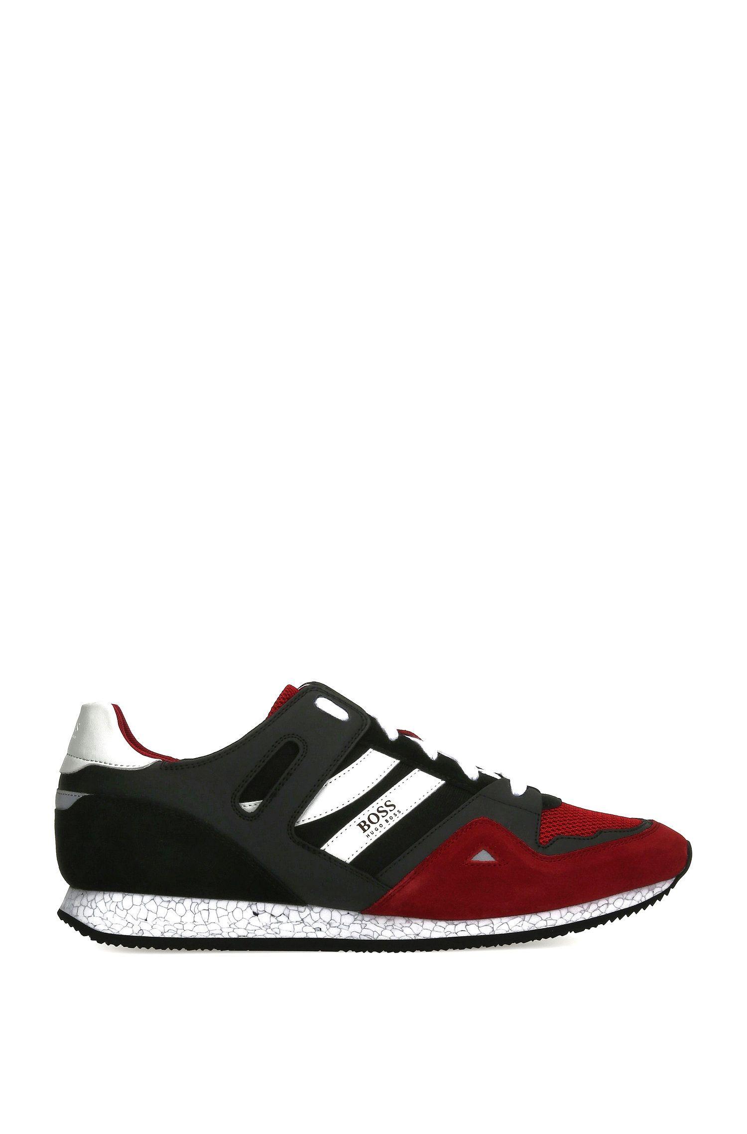 Sneakers in materiali misti con pelle e tessuto: 'Adrenal_Runn_mx'